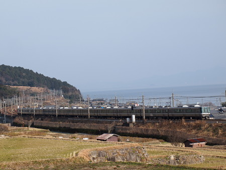 223系新快速 湖西線近江高島~北小松01
