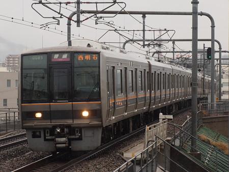 207系普通 山陽本線新長田駅