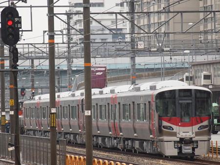 227系甲種輸送   山陽本線鷹取駅01