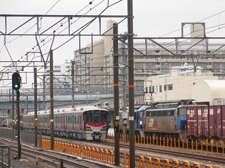 227系甲種輸送   山陽本線鷹取駅02