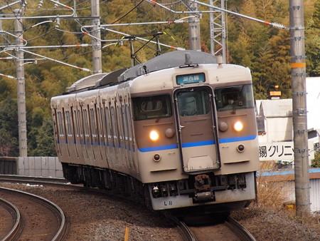 113系普通 湖西線小野駅