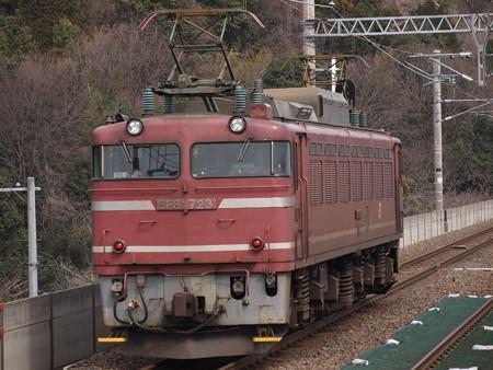 EF81単機 湖西線北小松駅
