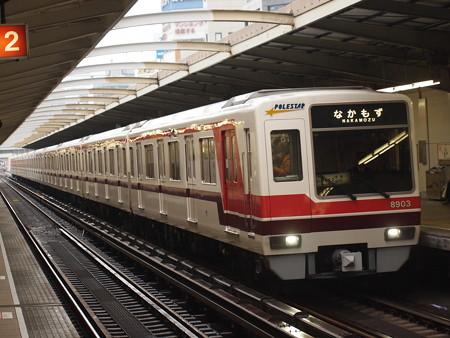 北大阪急行8000形 御堂筋線西中島南方駅