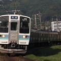 写真: 211系普通 中央本線下諏訪~岡谷03