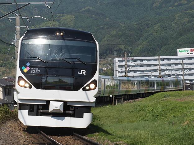写真: E257系特急あずさ 中央本線下諏訪~岡谷03