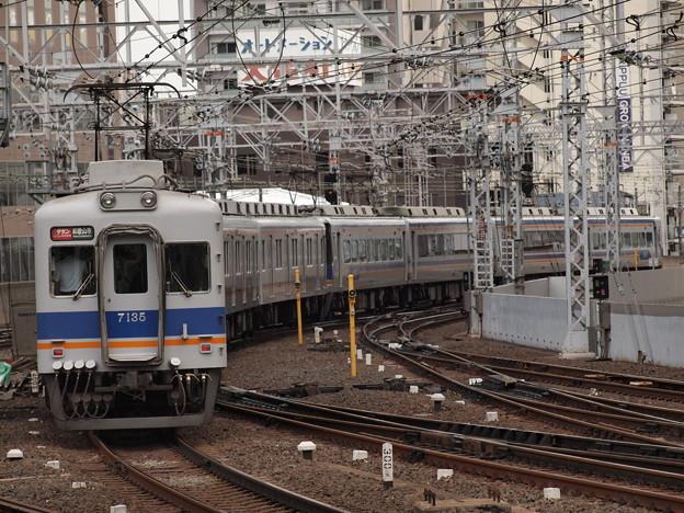 南海7100系特急サザン  南海本線難波駅02