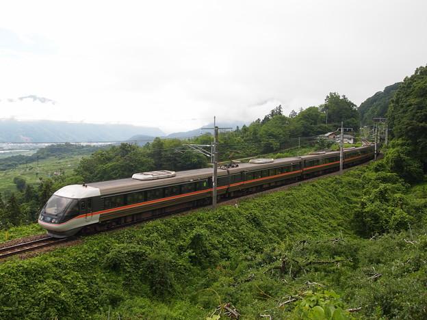 写真: 383系特急しなの 篠ノ井線姨捨~稲荷山02