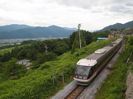 383系特急しなの 篠ノ井線姨捨駅