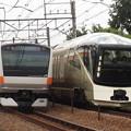 写真: 四季島とE233系中央特快 中央本線豊田~八王子