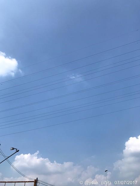 Photos: 七夕の空、モワモワ行く~like a short cut the past & more 777Star Festival 猛暑