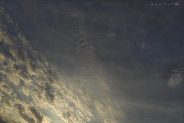 Photos: 前日10.9の夕空 ~last shot sunset sky(this TZ60)