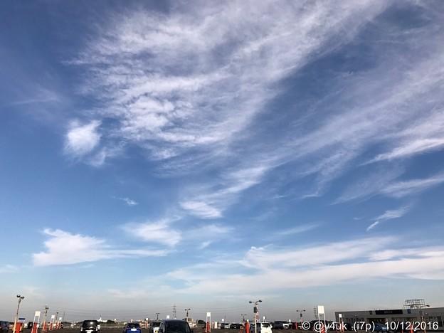 写真: 去年の今日 ~同じ青空~高い空を飛んだ~autumn blue sky