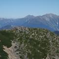 乗鞍岳から穂高岳方面を眺める