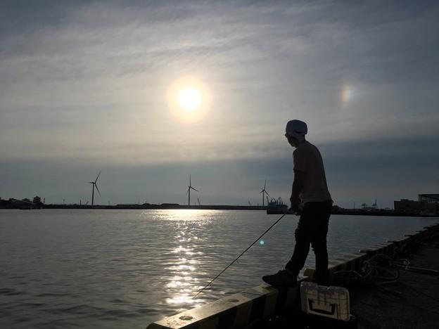 釣りと太陽