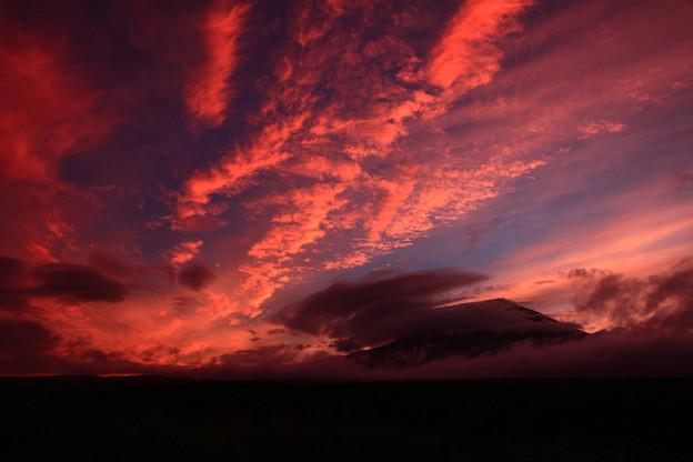 嵐の前の夕景