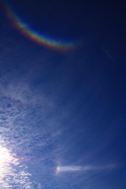 環天頂アークと日輪
