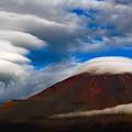 写真: 雲たちとの共演
