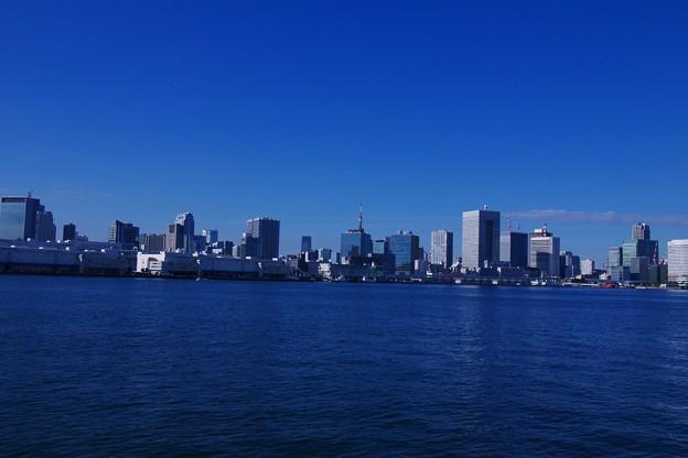海上から見た東京湾