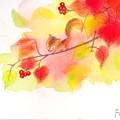写真: パステル画(深まる秋)