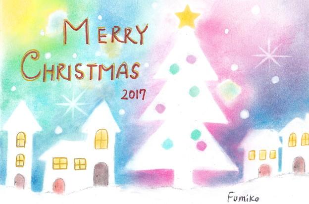 写真: メリークリスマス(パステル画)by ふうさん