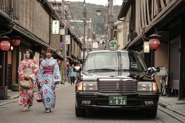 写真: 京都老街一景