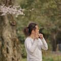 写真: 笛&桜