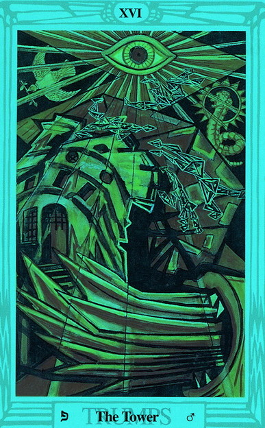 from THOTH TAROT DECK_XVI-The Tower