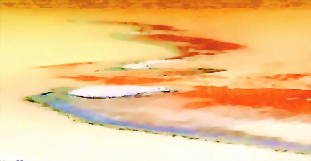 写真: 砂漠_心象-02砂漠の河