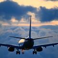 写真: 737雲の中