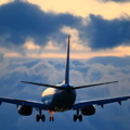 Photos: 737雲の中