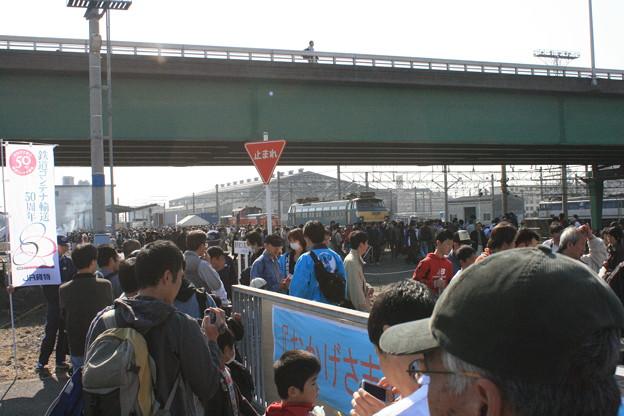 写真: JR貨物稲沢駅一般公開 会場入り口