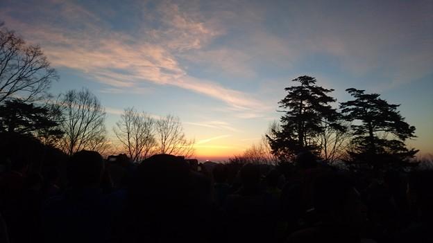 雲取山荘の御来光