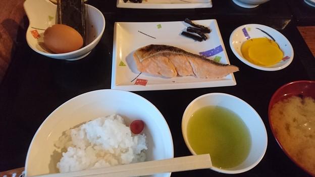 雲取山荘の朝食