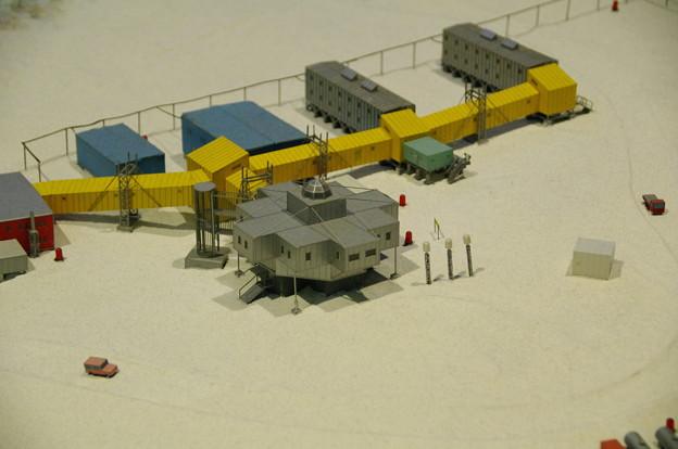 南極・北極科学館の昭和基地の模型