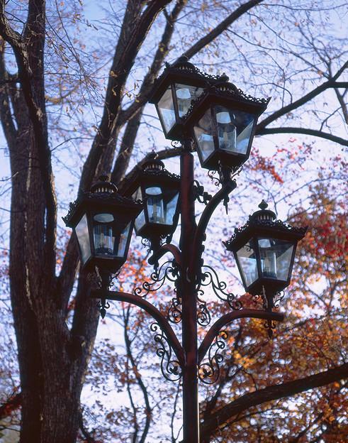 晩秋のガス灯