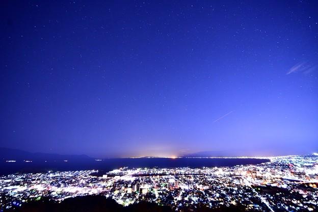 香貫山からの夜景と星空3