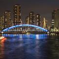 写真: 永代橋夜景