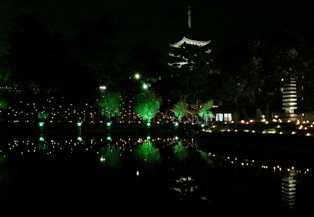 猿沢池:奈良燈火絵13