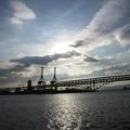 写真: 港大橋夕景:大阪周遊19