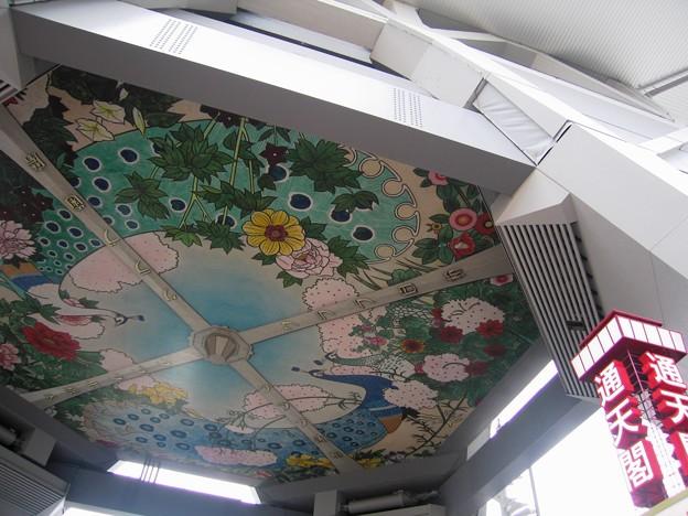 通天閣エントランス大天井:大阪周遊75