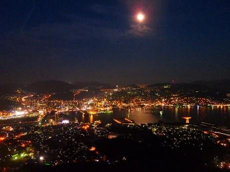 長崎~夜景とお月様