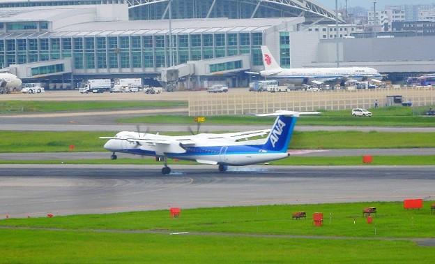 福岡空港 ANA着陸