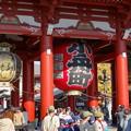写真: 師走、浅草寺にて