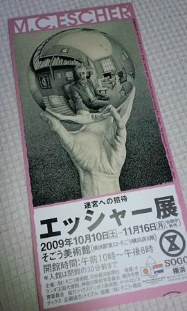 チケット@迷宮への招待 エッシャー展
