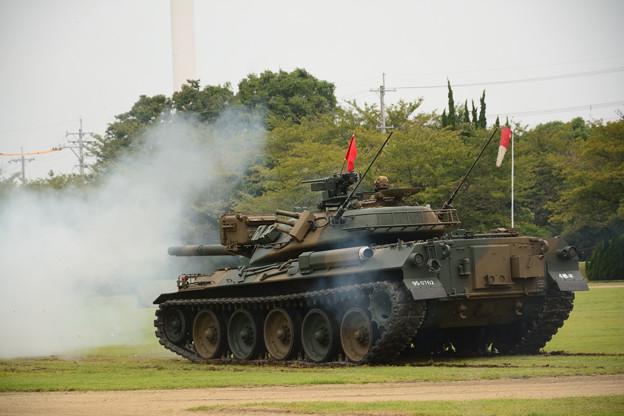 74式戦車 発射直後