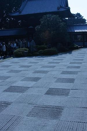 東福寺  開山堂から 庭園を見る