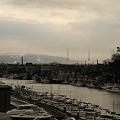 写真: 漁船が整列! 金沢大野川 河口