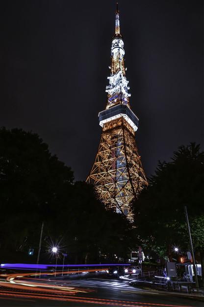 写真: 夜のタワー