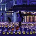 写真: 海の灯り祭り