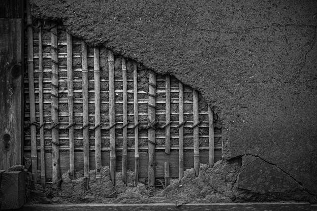 写真: 土壁
